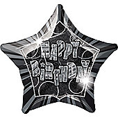 Happy Birthday 20' Star Foil Balloon (each)