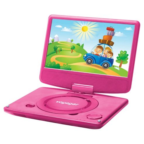 buy voyager portable dvd player with 7 inch screen pink from our portable dvd players range tesco. Black Bedroom Furniture Sets. Home Design Ideas