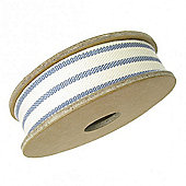 Ribbon Reel - 2 Stripe Dark Blue/Cream