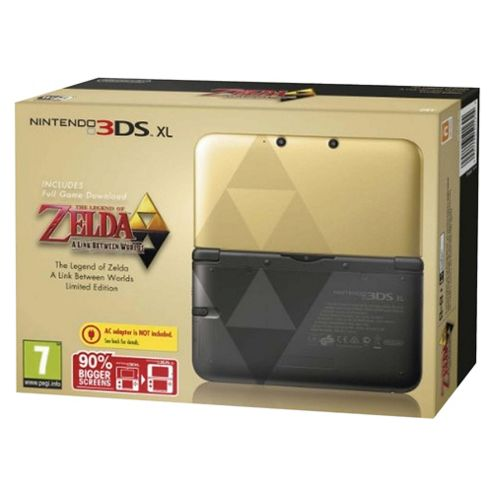 Nintendo 3DS XL Black Zelda Link Between Worlds Limited Edition