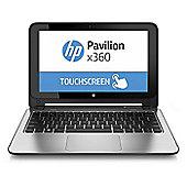 "HP x360, 11.6"" Convertible Touchscreen Laptop, Intel Celeron, 4GB RAM, 500GB - Silver"