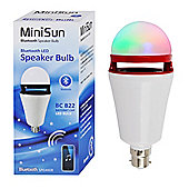 MiniSun BC B22 3W LED Bluetooth Speaker Bulb RGB Colour Changing