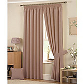 Curtina Hudson 3 Pencil Pleat Lined Curtains 66x54 inches (167x137cm) - Coffee