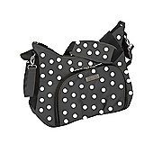 Baby Elegance Cody Changing Bag, Black Polka