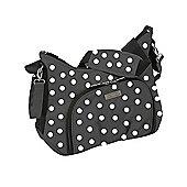 Baby Elegance Cody Changing Bag, Black Polka