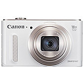 Canon PowerShot SX610 Digital Camera, 20.2MP CMOS Sensor, 18x Optical Zoom, Wi-Fi, NFC, White