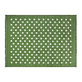 Lorena Canals Estrellitas Green Children's Rug - 140 cm x 200 cm (4 ft 6 in x 6 ft 6 in)
