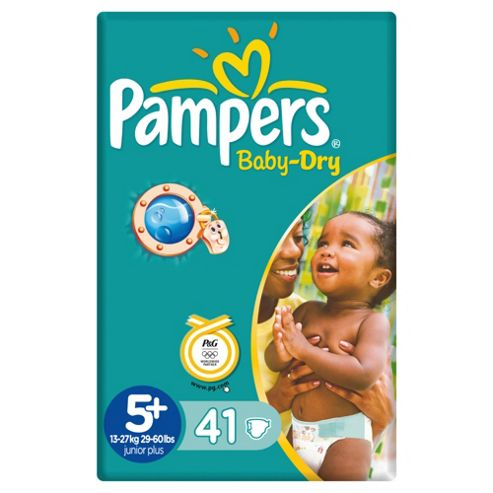 Pampers Baby Dry Economy Pack Junior Plus 41 (Size 5+)