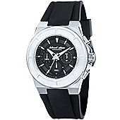 Black Dice Gents Rubber Strap Chronograph Watch BD06801