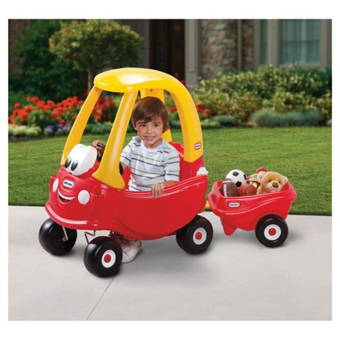 Little Tikes Cozy Coupe Ride-On Car With Cozy Trailer