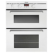 Indesit FIMU23WH, Built-in Electric Cooker, 60cm, White, Twin Cavity, Double Oven