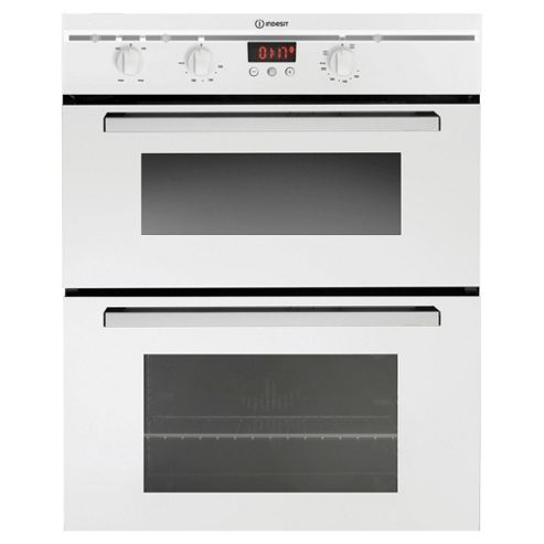 Indesit FIMU23WH, White, Electric Cooker, Built-in Double Oven, 60cm
