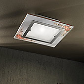 Ferroluce Capua 30 cm x 30 cm 1 x G24 / 18W Light Flush Light in Nickel