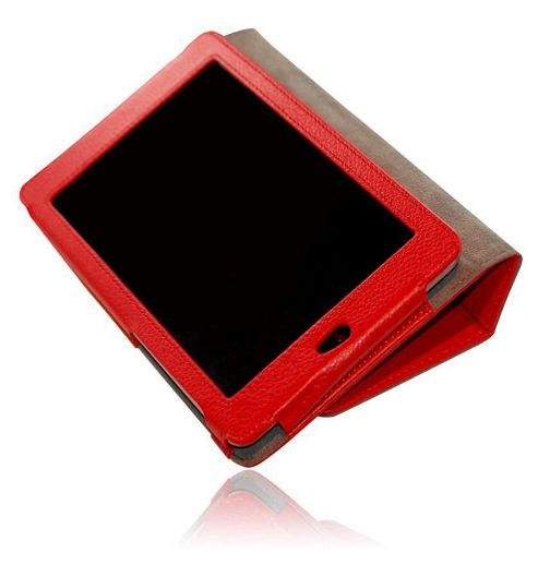 U-bop Neo-ORBIT Vertical Tablet Flip Case Red - For Samsung Galaxy Tab 2 101