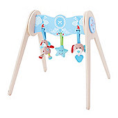 Bigjigs Toys BB519 Bruno Wooden Baby Gym With Soft Plush Toys