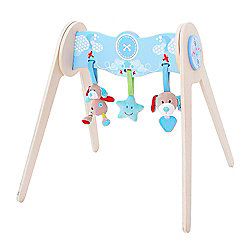 Bigjigs Toys Bruno Baby Gym with Soft Plush Toys