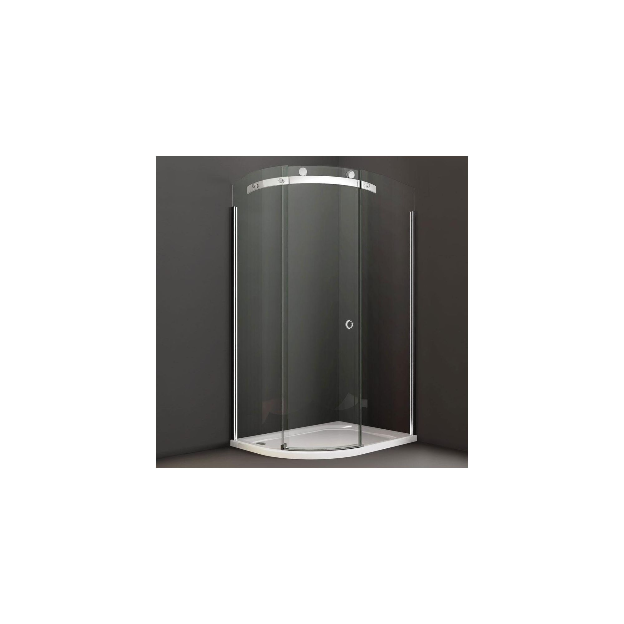 Merlyn Series 10 Offset Quadrant Shower Door, 1200mm x 900mm, 10mm Smoked Glass, Left Handed at Tesco Direct