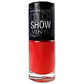 Maybelline New York Color Show Vinyl Nail Varnish 7ml-403 Record Red