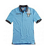 2013-14 Lazio Cotton Polo Shirt (Blue) - Blue