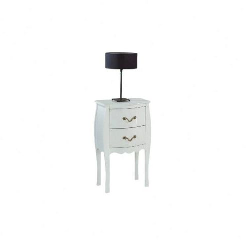 Altruna Murano 2 Drawer Bedside Table - White