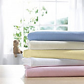 Izziwotnot Interlock Jersey 2 Pack Fitted Cot Bed Sheet - Lemon