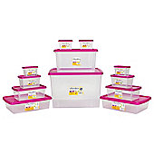 Wham Plastic Storage Box Bundle - 50L - 12 Pack