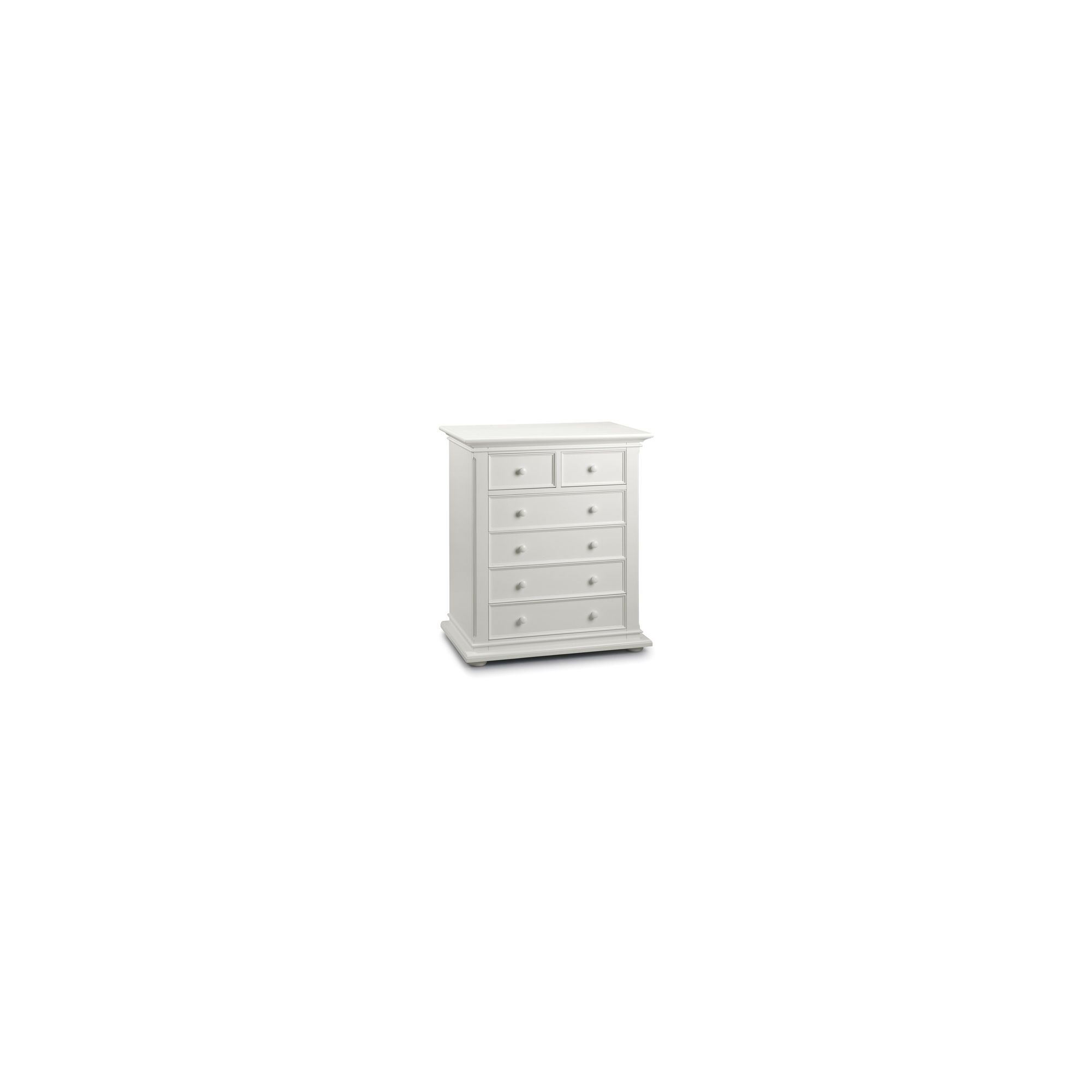 Julian Bowen Josephine 6 Drawer Chest in White at Tescos Direct