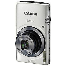 Canon IXUS 160 Digital Camera, 20MP, 8x Optical Zoom, White