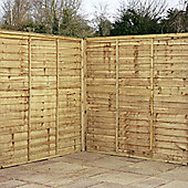 5FT Pressure Treated Waney Edge Overlap Fencing Panels -1 Panel Only (Min Order 3 Panels)