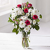 Rose & White Chrysanthemum Floral Bouquet