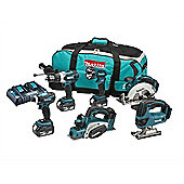 Makita DLX6012PM 6 Piece Kit 18 Volt 3 x 4.0Ah Li-Ion