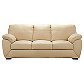 Alberta Large Leather Sofa, Ivory