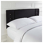 Seetall Jaden Headboard Linen Effect Black King