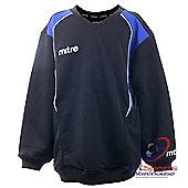 Mitre Crosby Junior & Youths Black/ Blue Sweatshirts Football Drill Tops - Blue & Black