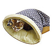 Rosewood Pet Products 40 Winks Lyon Plush Cat Bed in Grey/Cream