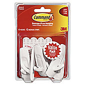 Command Large Hooks Medium Strips Value 6pk