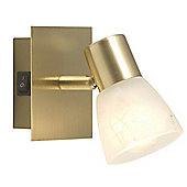 Home Essence Raider 1 Light Wall Spotlight in Brass Matte
