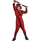 Child Ninja Costume (Red) Small