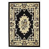 Oriental Carpets & Rugs Marakesh Black Rug - 220cm L x 160cm W