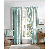Curtina Anais Duck Egg 90x72 inches (228x183cm) Lined Curtains