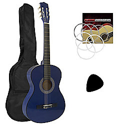 Tiger 1/2 Size Blue Kids Classical Guitar Package