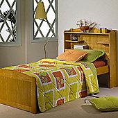 Amani Bookcase single Bed Frame - Honey