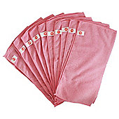 Harbour Housewares Microfibre Cloths - Pack of 10 - Large 40 x 40cm - Pink