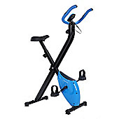Confidence Fitness Folding Exercise X Bike Blue