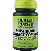 Health Plus Mushroom Extract Complex 60 Veg Tablets
