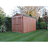 Palram Skylight Amber Plastic Shed, 6x10ft