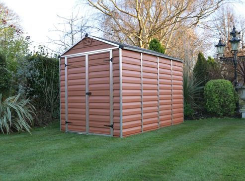 Buy palram skylight amber plastic shed 6x10ft from our for Garden shed tesco