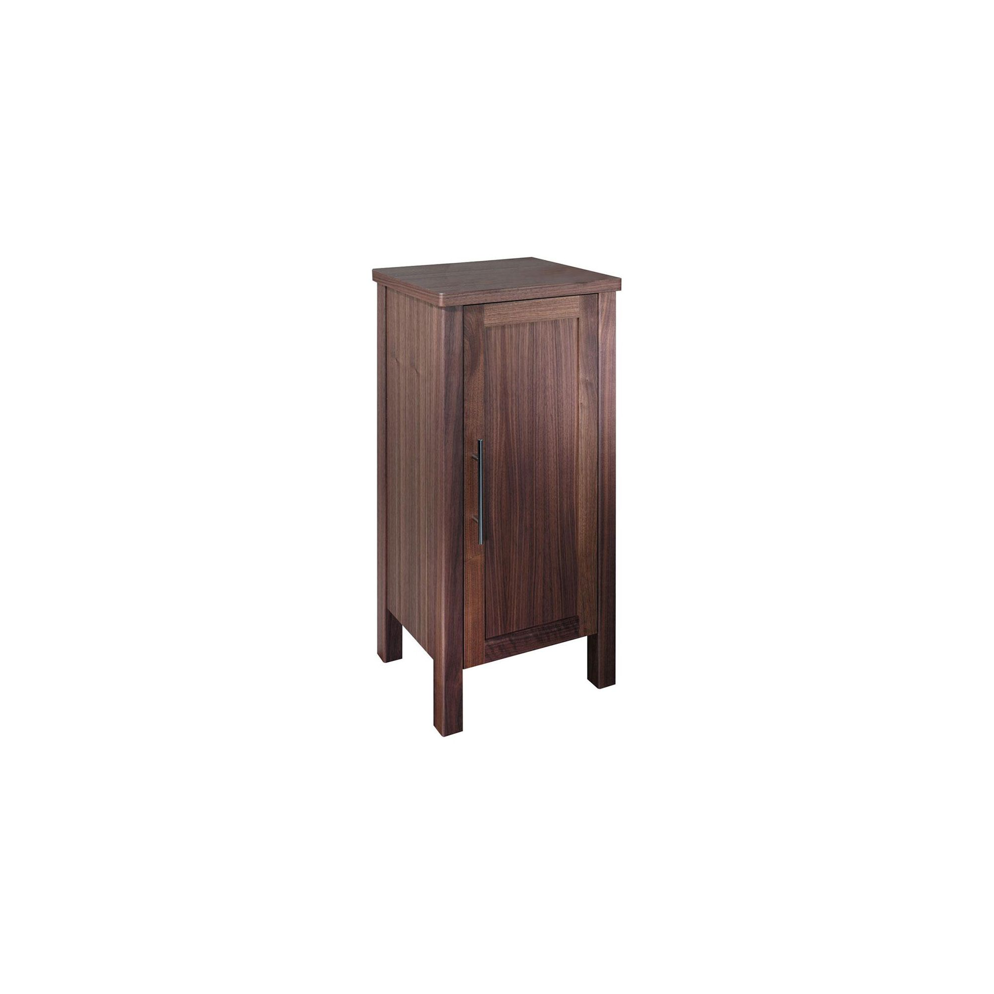 Tavistock Lava Walnut Floor Standing Storage Cupboard - 420mm Wide