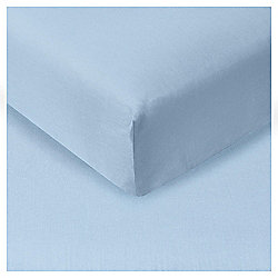 Double Fitted Sheet - Breeze Blue