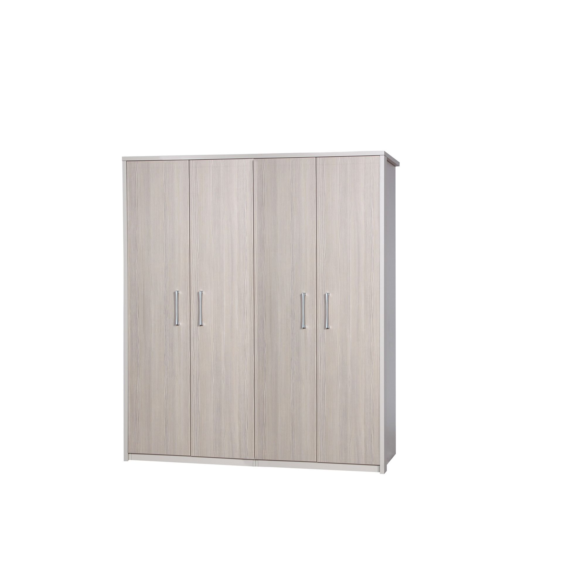 Alto Furniture Avola 4 Door Wardrobe - Cream Carcass With Champagne Avola at Tescos Direct